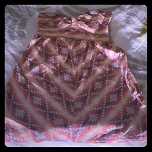 Roxy Aztec strapless dress size medium